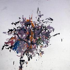 Richard Lazzara: 'space around the goal', 1972 Oil Painting, History. Artist Description: space around the goal 1972   from the folio  DRAWING ON NY STUDIO SCHOOL TRAINING   by Richard Lazzara is available at