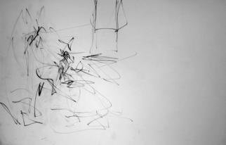 Artist: Richard Lazzara - Title: space defines the model - Medium: Charcoal Drawing - Year: 1972
