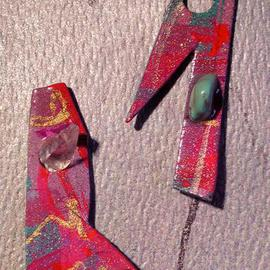 Richard Lazzara: 'spys ear ornaments', 1989 Mixed Media Sculpture, Fashion. Artist Description: spys ear ornaments from the folio LAZZARA ILLUMINATION DESIGN are available at