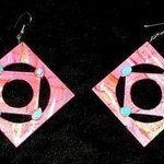 square in a circle ear ornaments By Richard Lazzara