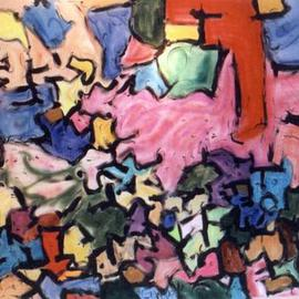 Richard Lazzara: 'story puzzle', 1992 Acrylic Painting, Culture. Artist Description: story puzzle by Richard Lazzara is from the