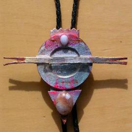 Richard Lazzara Artwork sun birds bolo or pin ornament, 1989 Mixed Media Sculpture, Fashion