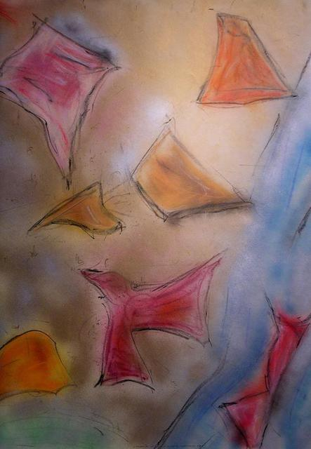 Richard Lazzara  'Symbol Of Extreme Happiness', created in 1988, Original Pastel.