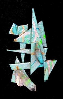 Richard Lazzara Artwork synergy pin ornament, 1989 Mixed Media Sculpture, Fashion