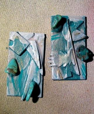 Richard Lazzara Artwork synergy relief ear ornaments, 1989 Mixed Media Sculpture, Fashion