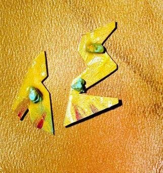 Richard Lazzara Artwork talking shapes poetry ear ornaments, 1989 Mixed Media Sculpture, Fashion