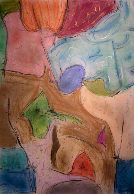 Richard Lazzara  'Talking To The Wind', created in 1988, Original Pastel.