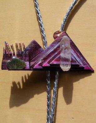 Richard Lazzara Artwork taos mountain bolo or pin ornament, 1989 Mixed Media Sculpture, Fashion