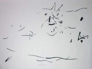 Richard Lazzara: 'that can stop', 1974 Calligraphy, Visionary. THAT CAN STOP, from the folio MINDSCAPES is available at