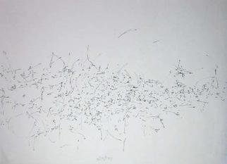 Richard Lazzara: 'the key to art', 1974 Calligraphy, Visionary. THE KEY TO ART, from the folio MINDSCAPES is available at