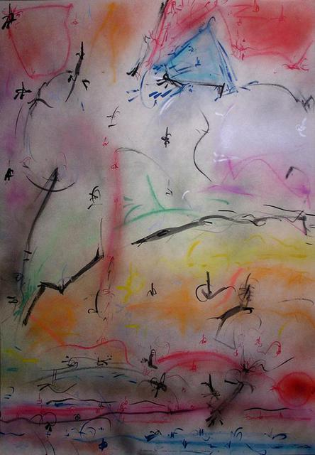 Richard Lazzara  'The Land Of Supreme Peace', created in 1988, Original Pastel.