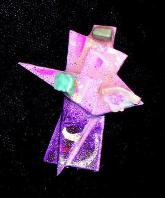 Richard Lazzara: 'three stones pin ornament', 1989 Mixed Media Sculpture, Fashion. Artist Description: three stones pin ornament from the folio LAZZARA ILLUMINATION DESIGN is available at