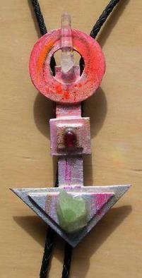 Richard Lazzara: 'time shapes bolo or pin ornament', 1989 Mixed Media Sculpture, Fashion. Artist Description: time shapes bolo or pin ornament from the folio LAZZARA ILLLUMINATION DESIGN is available at