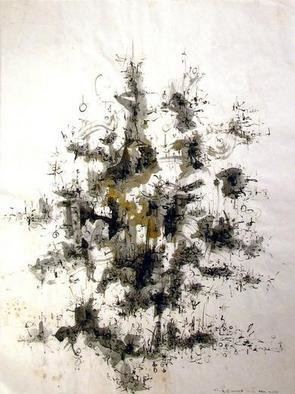Artist: Richard Lazzara - Title: tree island - Medium: Calligraphy - Year: 1975