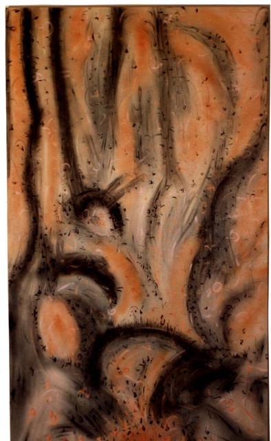 Richard Lazzara  'Tree Roots', created in 1990, Original Pastel.