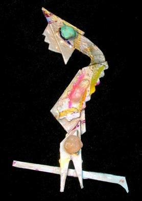 Richard Lazzara Artwork treebird pin ornament, 1989 Mixed Media Sculpture, Fashion