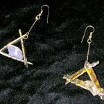triangle swings ear ornaments By Richard Lazzara