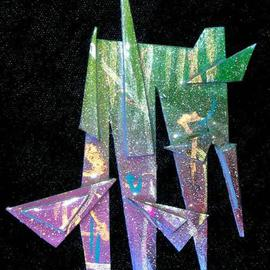 Richard Lazzara: 'walk on pin ornament', 1989 Mixed Media Sculpture, Fashion. Artist Description: walk on pin ornament from the folio LAZZARA ILLUMINATION DESIGN is available at