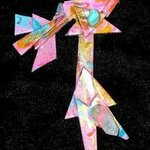walking clovis man pin ornament By Richard Lazzara