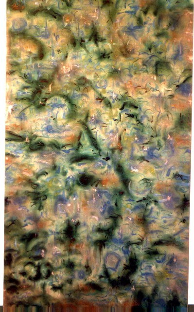 Richard Lazzara  'Watering My Garden', created in 1991, Original Pastel.