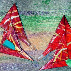 Richard Lazzara: 'wear both ways ear ornaments', 1989 Mixed Media Sculpture, Fashion. Artist Description: wear both ways ear ornaments from the folio LAZZARA ILLUMINATION DESIGN are available at