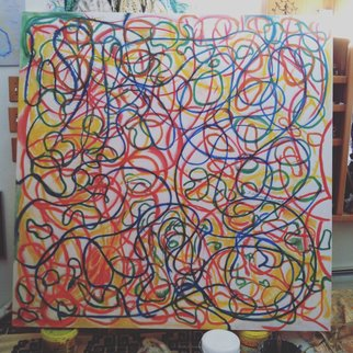 Richard Lazzara: 'whirling swerlling', 2015 Acrylic Painting, Abstract.