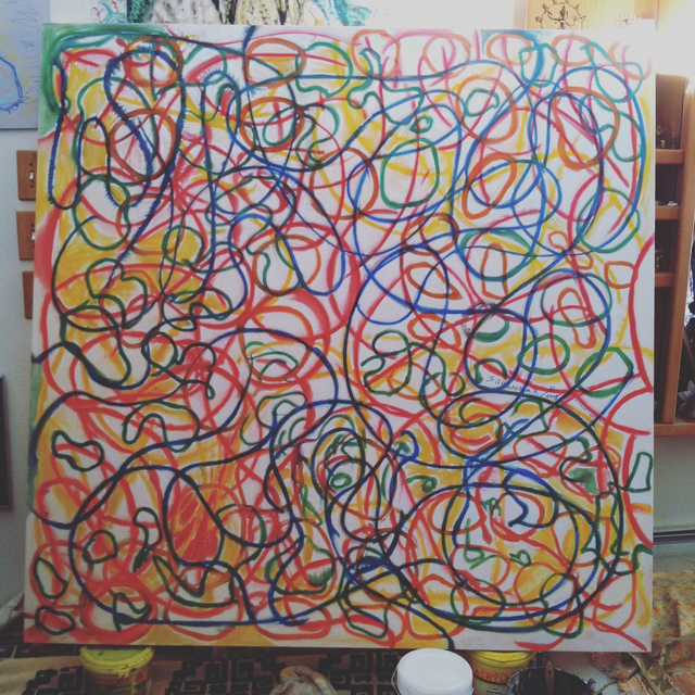 Richard Lazzara: whirling swerlling, 2015 Calligraphy