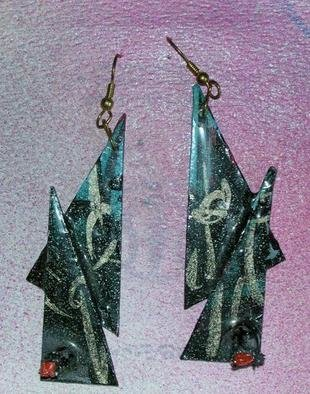 Richard Lazzara Artwork with standing ear ornaments, 1989 Mixed Media Sculpture, Fashion
