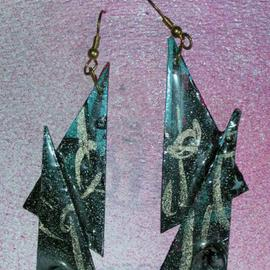 Richard Lazzara: 'with standing ear ornaments', 1989 Mixed Media Sculpture, Fashion. Artist Description: with standing ear ornaments from the folio LAZZARA ILLUMINATION DESIGN are available at