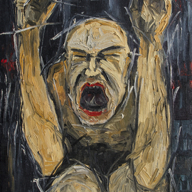Andrej Sido Artwork Cry, 2001 Oil Painting, Expressionism