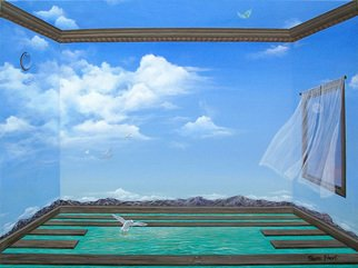 Sharon Ebert: 'Breathing Room', 2008 Acrylic Painting, Surrealism.  Room to breathe for everything. ...
