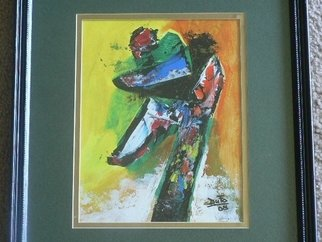 Jean Charles Duffaut: 'soccer player', 2008 Acrylic Painting, Abstract.  will tell later ...