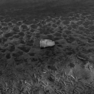 Steven Brown: 'Mud', 2013 Black and White Photograph, Nature. Artist Description:  a minimalist landscape           ...