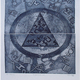 Sheetal Chaudhary Artwork expression22, 2007 Etching, Abstract