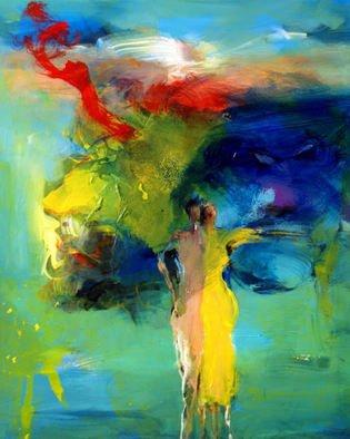 Shefqet Avdush Emini Artwork Untitled, 2014 Acrylic Painting, Expressionism