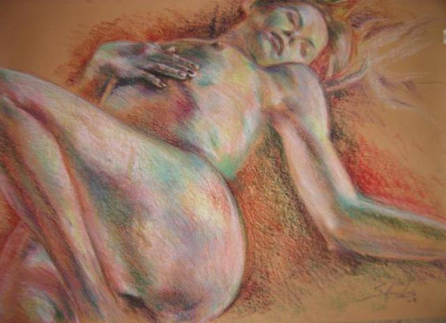 Sheila Fraga  'Before That', created in 2008, Original Pastel Oil.