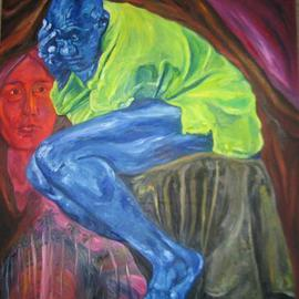 Sheila Fraga: 'Simarron', 2008 Oil Painting, Figurative. Artist Description:  Afro - Cuban Culture ...
