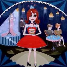 - artwork Queen_of_Tarts-1355175651.jpg - 2010, Painting Acrylic, Figurative