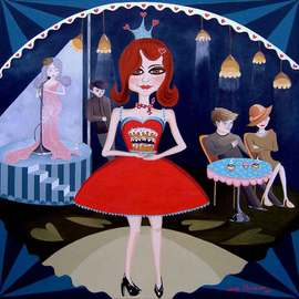 Sheila Mccarron: 'Queen of Tarts', 2010 Acrylic Painting, Figurative. Artist Description:     Acrylic on Canvas   ...