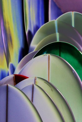 Shelley Catlin Artwork Surfboards, 2014 Digital Photograph, Abstract