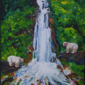 Human Bears At The Waterfall, Shelly Leitheiser