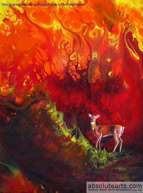 Shelly Leitheiser  'Inevitable Inferno', created in 2012, Original Painting Other.