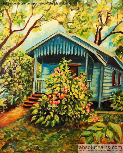 Shelly Leitheiser  'Midas Cabana', created in 2013, Original Painting Other.