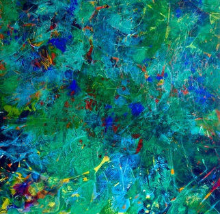 Azhar Shemdin Artwork A Lake In a Forest, 2015 A Lake In a Forest, Abstract Landscape