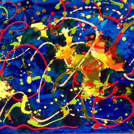 Azhar Shemdin: 'Exuberance', 2016 Acrylic Painting, Abstract. Artist Description: Original painting in liquid acrylic on thick canvas paper. ...