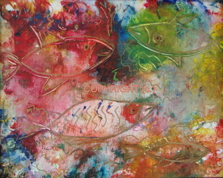 Azhar Shemdin Artwork Fish, 2008 Mixed Media, Fish