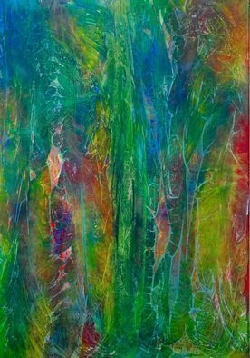 Azhar Shemdin Artwork Forest Man, 2013 Acrylic Painting, Abstract Landscape
