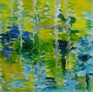 Artist: Azhar Shemdin - Title: Reflections of White Birch Trees - Medium: Acrylic Painting - Year: 2008