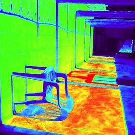 Azhar Shemdin: 'chair in the balcony', 2013 Color Photograph, Architecture. Artist Description: A photo using special effects. ...