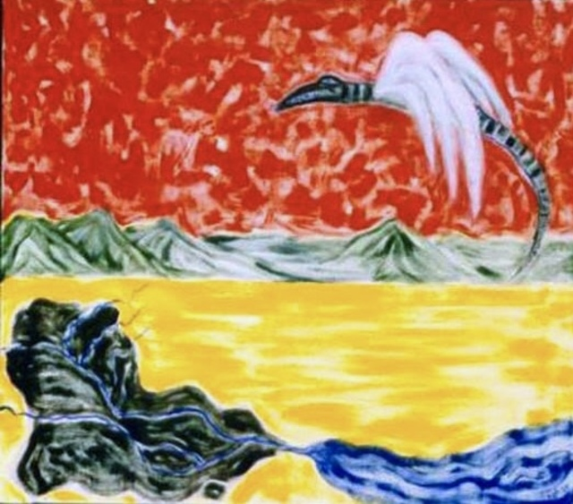 Azhar Shemdin  'The Flying Aligators From Iraq', created in 1991, Original Reproduction.